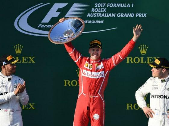 Sebastian Vettel Wins Australian GP Ahead Of Lewis Hamilton