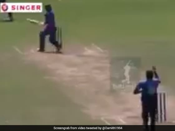 Lanka Batsman's Attempt At Inventing New Shot Ends In Embarrassment