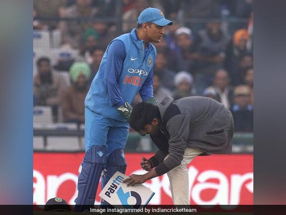 On Rohit's Big Day, Fan Enters Field To Touch Dhoni's Feet