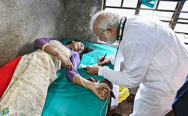 PM मोदी की रैली में गिरा पंडाल का एक हिस्सा, घायलों से मिलने अस्पताल पहुंचे प्रधानमंत्री