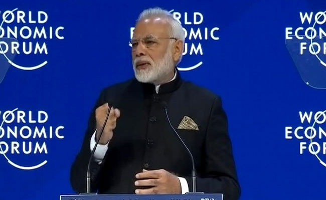 WEF 2018 : पीएम मोदी बोले, जलवायु परिवर्तन, आतंकवाद और देशों का आत्मकेंद्रित होना दुनिया के लिए बड़ा खतरा