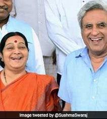'Madam, Thank You': Sushma Swaraj's Husband On Her 2019 Polls Reveal