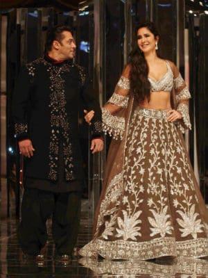 Katrina-Salman Walk Manish Malhotra's Ramp
