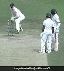 Watch: Azhar Ali Involved In One Of The Most Bizarre Run Outs Ever Seen