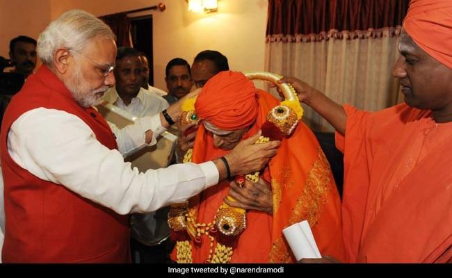 कर्नाटक के तुमाकुरु में सिद्दगंगा पीठ के प्रमुख 111 वर्षीय शिवकुमार स्वामी का निधन