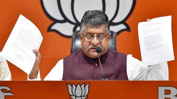 Congress Renegotiated Rafale Deal For Bribes, Says Ravi Shankar Prasad
