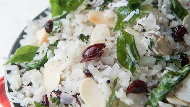 Almond and Cranberry Poha