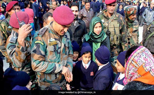 Dhoni Pays Surprise Visit To School In Srinagar, Interacts With Students