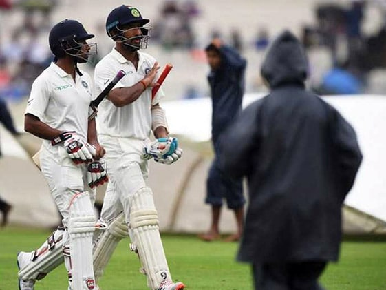 1st Test: Pujara Fights On As India Wobble On Rain-Hit Day 2