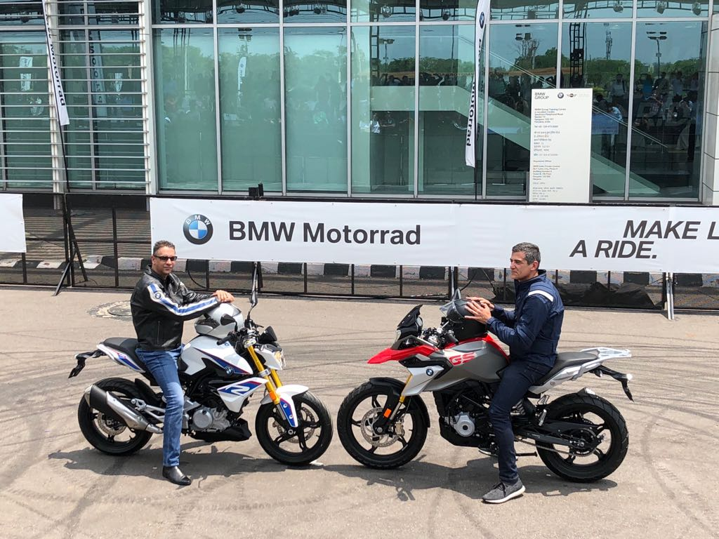 Bmw G 310 R Gs Launch Highlights Price Images Features Front Wheel Bikes 2 Vikram Pawah And Dimitris Raptis Ride In The New