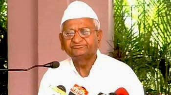 Video : Will ask people not to vote for Congress if Lokpal Bill is delayed: Anna