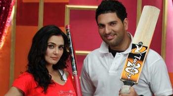 Video : Preity calls Yuvi a flirt, he takes offence