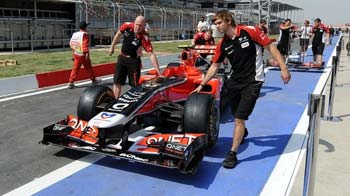 Video : F1's first pit stop in India
