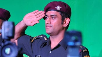 Video : From now, call him Lieutenant Colonel Dhoni