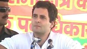 Video : Rahul begins Jan Sampark Yatra, takes on Mayawati