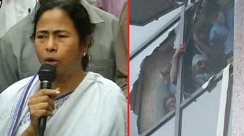 Video : Kolkata fire: Mamata Banerjee visits AMRI hospital