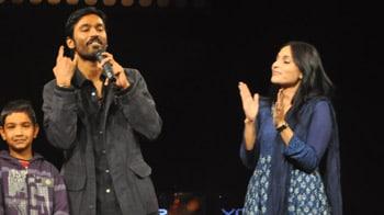 Video : Kolaveri couple Dhanush, Aishwarya at NDTV