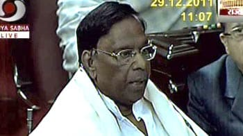Video : Narayanasamy tables Lokpal Bill in Rajya Sabha