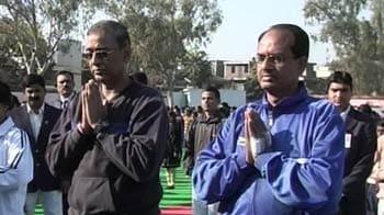 Video : Bending for a record: Mass surya namaskar in Madhya Pradesh