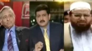 Congress MP Mani Shankar Aiyar confronts Hafiz Saeed on Pak TV show