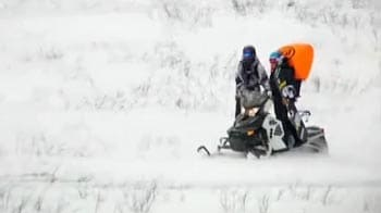 Video : Caught on camera: Airbag saves woman caught in avalanche