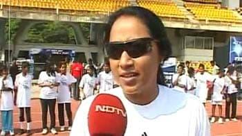 Video : Marks For Sports: Ashwini Nachappa trains budding athletes
