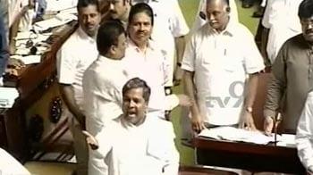 Video : Opposition shouts 'shame' over Karnataka porn scandal