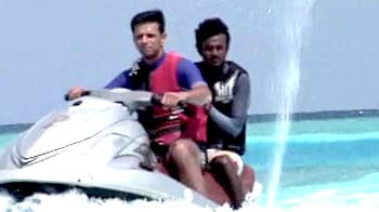Dravid rides the waves