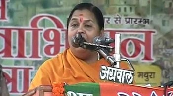 Video : With oil in her hair, Mayawati used to ask for votes on a cycle: Uma Bharati