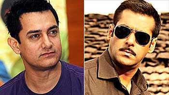 Video : Aamir shoots for TV series, Salman books studio for <i>Dabangg 2</i>