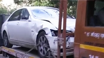 Video : Hit-and-run: Speeding Mercedes runs over two cops in Delhi, one dead
