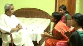 Video : Naveen Patnaik meets abducted MLA's family