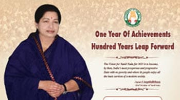 Video : Jayalalithaa's 25-crore ads seek national attention