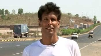 Video : Milind Soman's Green Run reaches Maharashtra