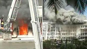 Video : Major fire at Maharashtra Secretariat in Mumbai, building evacuated