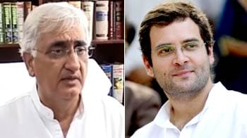 Video : Khurshid's remarks appear critical of Rahul, opposition leaps to the occasion