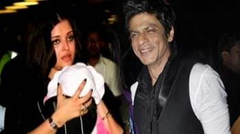 Video : SRK visits Aaradhya Bachchan
