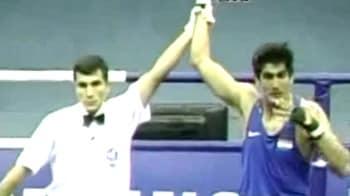 Video : प्रीक्वार्टर फाइनल में विजेंदर सिंह