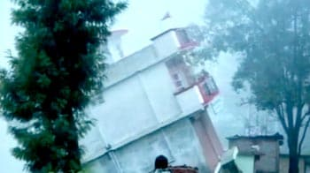 Video : Caught on camera: Two-storey building collapses in Uttarakhand
