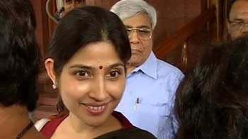 Video : My first day in Parliament: Dimple Yadav to NDTV