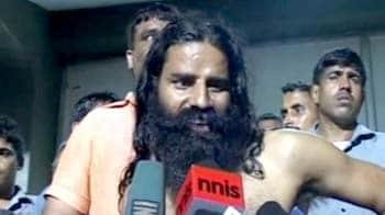 Video : Baba Ramdev will spend night at stadium, police on guard