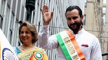 Saif Ali Khan leads India Day parade in New York