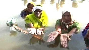 Video : For 16 days, protesters in water for land