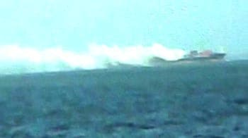 Video : Fire breaks out on ship off Mumbai coast; chemical cargo on board