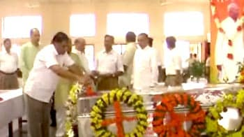 Video : Ex-RSS chief Sudarshan cremated in Nagpur