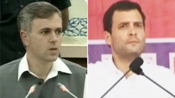 Video : Omar Abdullah vs Rahul Gandhi over sarpanch powers