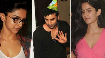 Video : Exes Deepika, Katrina attend Ranbir's birthday bash