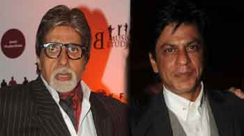 Video : Big B, SRK attend <i>Chittagong</i> screening