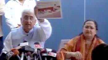 Video : Salman Khurshid loses cool at press conference