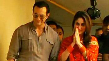 Video : Saif and Kareena back in Mumbai